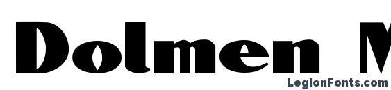 Шрифт Dolmen Medium