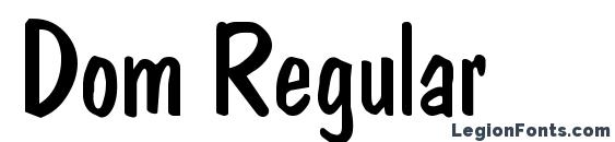 Шрифт Dom Regular