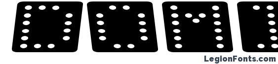 Domino flad kursiv Font