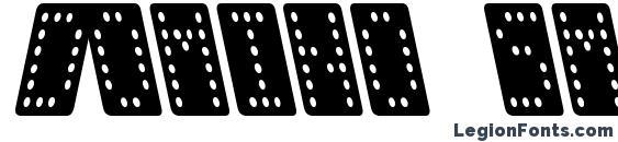 Шрифт Domino smal kursiv
