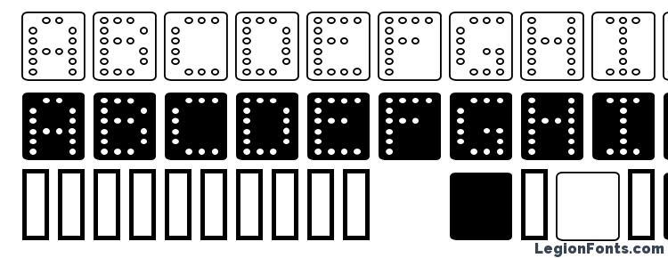 глифы шрифта Domino square, символы шрифта Domino square, символьная карта шрифта Domino square, предварительный просмотр шрифта Domino square, алфавит шрифта Domino square, шрифт Domino square
