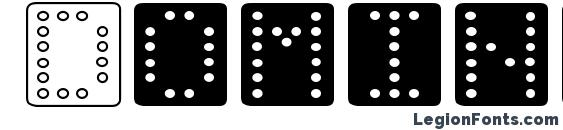 Шрифт Domino square