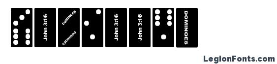 Dominoes Font, Icons Fonts