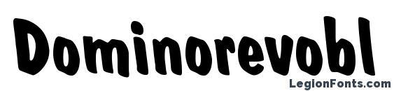 шрифт Dominorevobl bold, бесплатный шрифт Dominorevobl bold, предварительный просмотр шрифта Dominorevobl bold