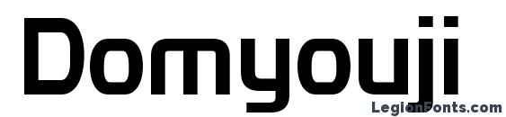 шрифт Domyouji, бесплатный шрифт Domyouji, предварительный просмотр шрифта Domyouji