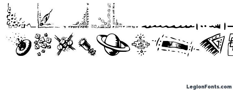 глифы шрифта Doodle Art, символы шрифта Doodle Art, символьная карта шрифта Doodle Art, предварительный просмотр шрифта Doodle Art, алфавит шрифта Doodle Art, шрифт Doodle Art
