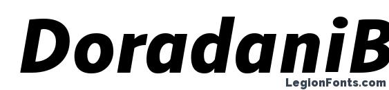 DoradaniBl Italic font, free DoradaniBl Italic font, preview DoradaniBl Italic font