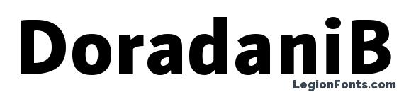 DoradaniBl Regular font, free DoradaniBl Regular font, preview DoradaniBl Regular font