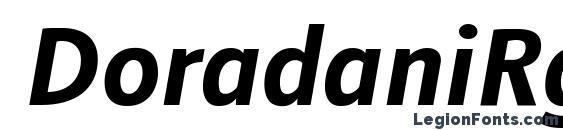 DoradaniRg BoldItalic Font