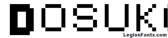 шрифт Dosukoi, бесплатный шрифт Dosukoi, предварительный просмотр шрифта Dosukoi