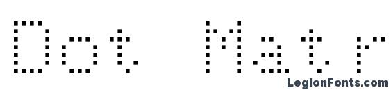 Dot Matrix Normal Font