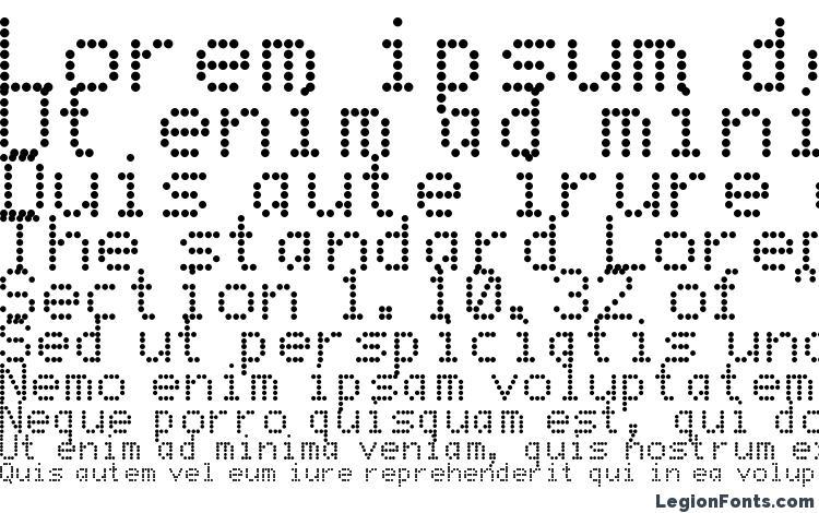 Dot matrix font microsoft word