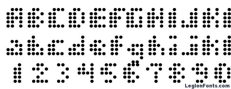 glyphs Dot short of a matrix font, сharacters Dot short of a matrix font, symbols Dot short of a matrix font, character map Dot short of a matrix font, preview Dot short of a matrix font, abc Dot short of a matrix font, Dot short of a matrix font