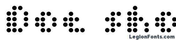 Dot short of a matrix Font