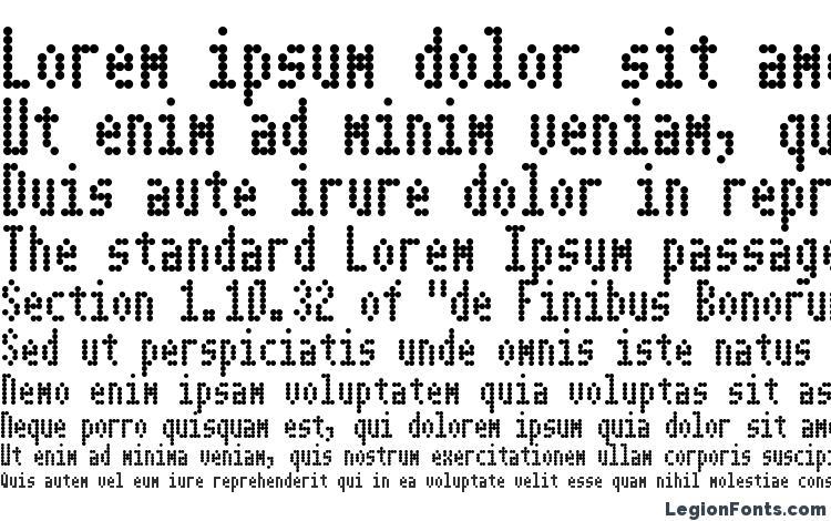 образцы шрифта Dotimatrix 3, образец шрифта Dotimatrix 3, пример написания шрифта Dotimatrix 3, просмотр шрифта Dotimatrix 3, предосмотр шрифта Dotimatrix 3, шрифт Dotimatrix 3