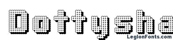 шрифт Dottyshadow, бесплатный шрифт Dottyshadow, предварительный просмотр шрифта Dottyshadow