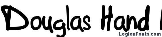 Douglas Hand Normal font, free Douglas Hand Normal font, preview Douglas Hand Normal font