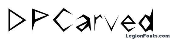 DPCarved font, free DPCarved font, preview DPCarved font