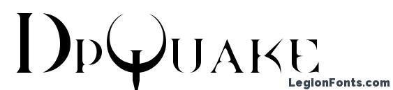 шрифт DpQuake, бесплатный шрифт DpQuake, предварительный просмотр шрифта DpQuake