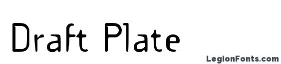 Draft Plate Font