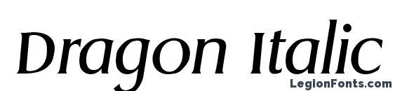 Dragon Italic Font