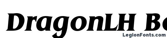 DragonLH Bold Italic Font, Serif Fonts