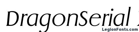 Шрифт DragonSerial Xlight Italic