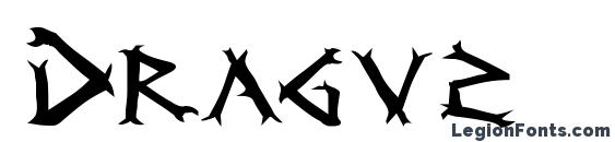 шрифт Dragv2, бесплатный шрифт Dragv2, предварительный просмотр шрифта Dragv2