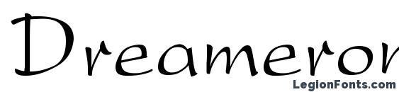шрифт Dreamerone, бесплатный шрифт Dreamerone, предварительный просмотр шрифта Dreamerone