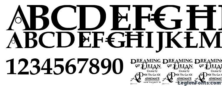 glyphs Dreaming of lilian font, сharacters Dreaming of lilian font, symbols Dreaming of lilian font, character map Dreaming of lilian font, preview Dreaming of lilian font, abc Dreaming of lilian font, Dreaming of lilian font