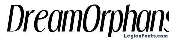 Шрифт DreamOrphans Italic