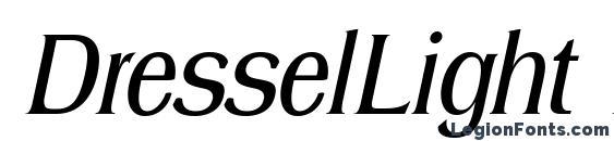 Шрифт DresselLight Italic