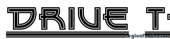 шрифт Drive Thru NF, бесплатный шрифт Drive Thru NF, предварительный просмотр шрифта Drive Thru NF
