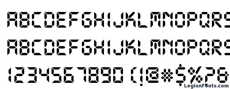 Ds digital bold Font Download Free / LegionFonts