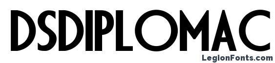 Шрифт Dsdiplomac bold