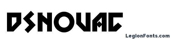 Шрифт Dsnovac
