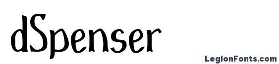 Шрифт dSpenser