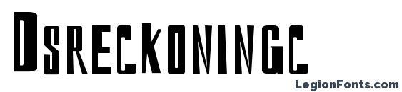 Dsreckoningc font, free Dsreckoningc font, preview Dsreckoningc font