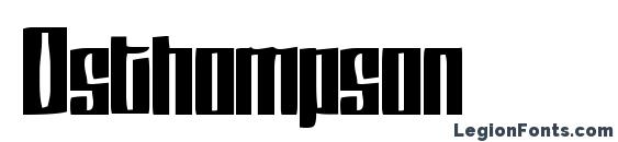 Шрифт Dsthompson