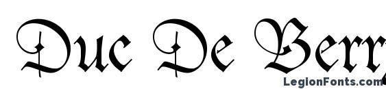 Duc De Berry LT Font