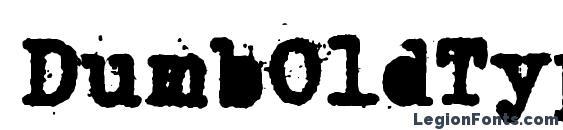 DumbOldTypewriter AlternateHeavy Font, Halloween Fonts