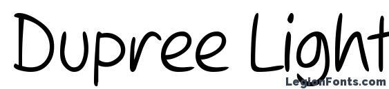 Dupree Light Font, Cool Fonts
