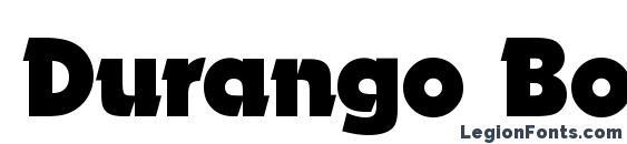шрифт Durango Bold, бесплатный шрифт Durango Bold, предварительный просмотр шрифта Durango Bold