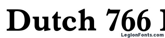 Шрифт Dutch 766 Bold BT