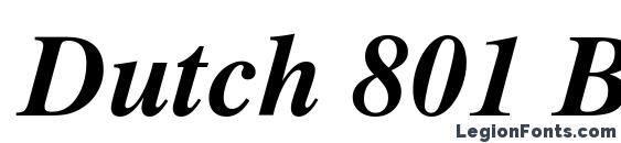 Dutch 801 Bold Italic SWA Font