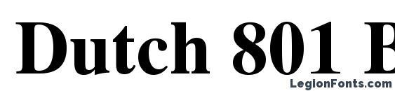Dutch 801 Bold Win95BT Font
