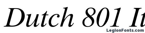 Dutch 801 Italic TL Font