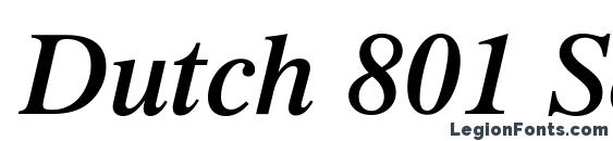 Шрифт Dutch 801 Semi Bold Italic BT