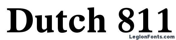 Dutch 811 Bold BT Font