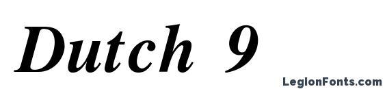 Dutch 9 Font